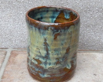 Beer water juice beaker tumbler cup hand thrown stoneware pottery