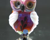 Decorative Lampwork Owl- SRA Lorraine Dowdle