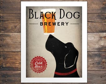LABRADOR Beer Black Dog Brewery Standard Size NO CUSTOMIZATION Print Signed