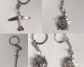 Supernatural Protection Symbol    Earrings and key chain / Key Chain Collection