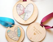 Personalised Map 'Home Is Wherever I'm With You' Valentine's decoration keepsake - personalise to your favourite place