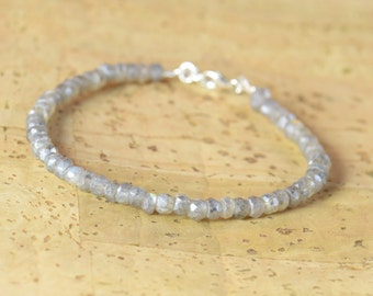 Labradorite faceted beads  bracelet