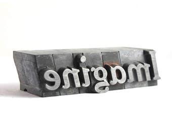 IMAGINE - 48pt Vintage Metal Letterpress