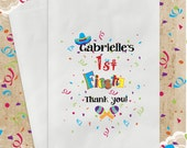 12 Pak FIESTA Party Favor Bags / Candy Goody Treat Bag / Birthday Baby Shower Wedding Quinceanera 15  PERSONALIZED  / 3 Day Ship