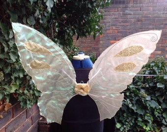 Beautiful OOAK Large Gold Fairy Wings