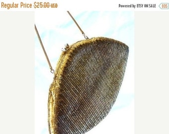 SALE Clearance Sale Vintage Gold Beaded Evening Bag Signed LA REGALE