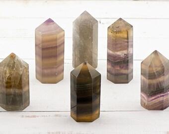 Fluorite Tower Gemstone Point - Universal Consciousness