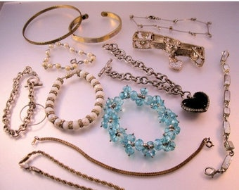 SALE Now On Ends 4/3/17 Vintage Bracelet Lot of 12 Pieces All Types Lot of Bracelets Costume Jewelry Jewellery