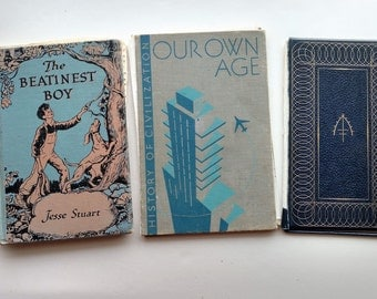 3 Mid-Century Vintage Book Covers