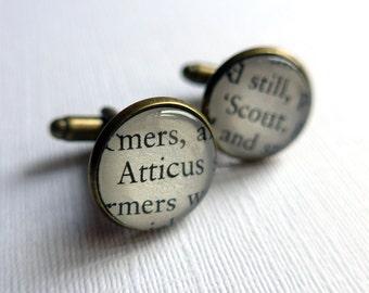 To Kill a Mockingbird Cufflinks, Husband Gift, Atticus Finch and Scout Book Jewellery