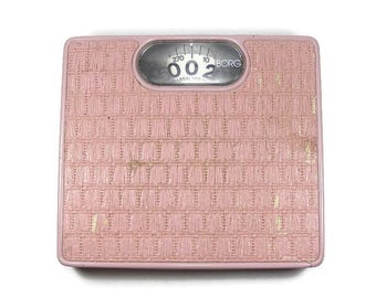 Pink Bathroom Scale Borg Mechanical Scale Vintage Pink Bathroom Weight Scale