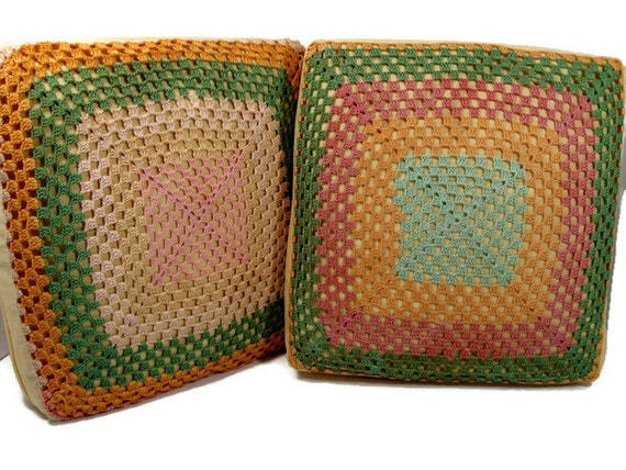 12 Inch Throw Pillow Covers : Crocheted Pillow Covers 12 inch throw pillow