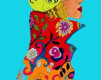 Fabulous  Fashion Illustration coloring book