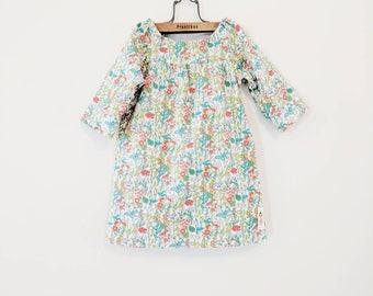 FLOWERS DRESS Liberty girls Dress Size 2-3y