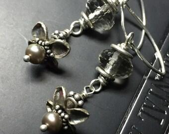 Garden lilac earrings