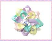 Easter Loopy Bow, Girls Spring Hair Bow, Bunny Hair Bow, Colorful Pastel Loopy Bow For Easter,  Toddler Hair Bows, Girls Hair Accessory