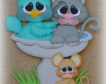 Spring Friends Premade Scrapbooking Embellishment Paper Piecing