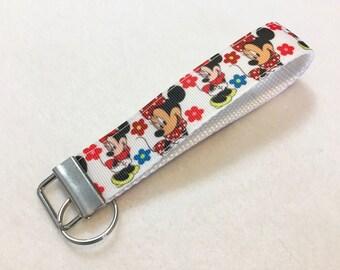 Cute Minnie Mouse Key Fob Keychain wristlet