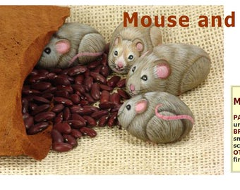 How to paint a stone mouse - Rock painting pdf tutorial in english