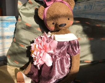 SPRING IS COMING 16 inch Artist Handmade Mohair Bear  Teddy Bear Josephina by Sasha Pokrass
