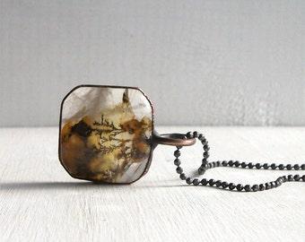 Quartz Necklace Raw Stone Copper Jewelry Crystal Gemstone Agate Stone Pendant Artisan Midwest Alchemy