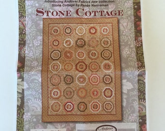 "Price Reduced  Stone Cottage Quilt Kit 56.75"" x 75.25"" by Renee Nanneman for Andover Fabrics Need'l Love 1800 Reproduction fabric"