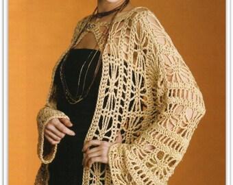 Misses Crochet Sweater Pattern - Size Small, Medium, Large, X Large - Pattern 06461216