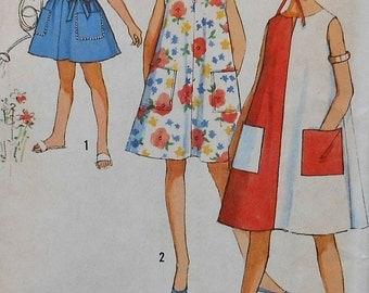 Vintage Girls Dress Sewing Pattern UNCUT Size 12 Simplicity 5304