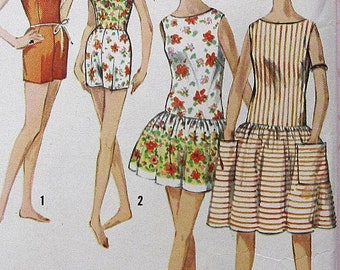 Vintage Dress Sewing Pattern UNCUT Simplicity 4435 Size 13 bathing suit