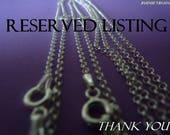 Reserved listing for smykkeline