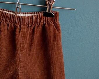 Vintage 1980s Brown Corduroy Pants - Size 3T