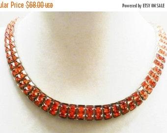 Scorpio Birthday SALE Beautiful Pink Crystal Rhinestone Vintage Collar Vintage Necklace