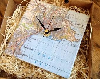 Torquay Map clock