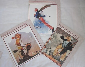 NORMAN ROCKWELL Calendar Pictures Prints Set of Three