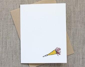 Birthday Party Horn: Individual Birthday Greeting Card