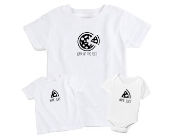 Pizza Father and Son / Daughter Matching T-Shirt Set
