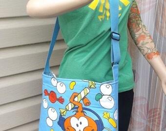 Snork  Cross- Body Adjustable  Slouch Bag     Vintage 80s Hanna Barbera