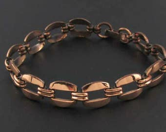 Copper Link Bracelet, Copper Bracelet, Copper Jewelry, Arts and Crafts Bracelet