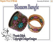 ON SALE Blossom Bangle - Beading Pattern Tutorial