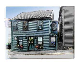 Photo Art of Historic House built in Marblehead, Ma. in 1796   .