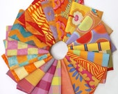 Black Friday SALE Kaffe Fassett - Artisan (warm) - Fat Quarter Fabric Bundle - 20 print/woven/batiks