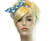 Blue Headband, Yellow Headband, White Daisy Headband, Cute Headband, Wired Headband, Womens Headbands, Gifts for Teen Girls, Floral Headband