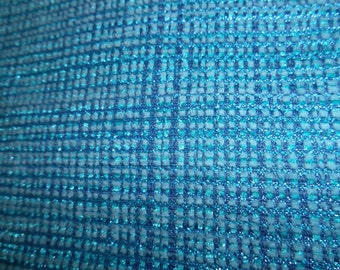 TEAL TURQUOISE SOFT  Woven  Chinelle Upholstery Fabric by the yard, 25-29-04-0614