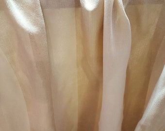 OUTDOOR SHEER SUNBRELLA Gold Stripe Drapery Fabric, 11-43-02-119
