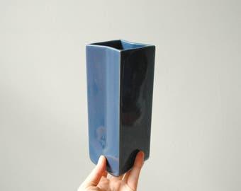 Vintage Vase, Blue Vase, Modern Vase, Japanese Vase