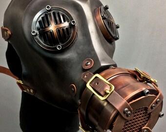 Gas Mask - War - Burgundy