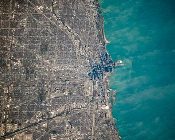 nasa aerial view of illinois - photo #3