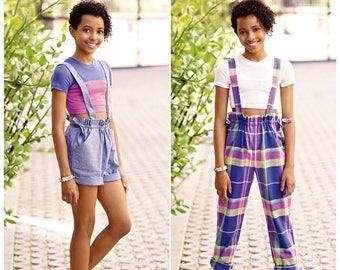 MimiG Style for Tween Girls' Drawstring Shorts or Pants Pattern, Tween Girls' Cropped Knit Top Pattern, Simplicity Sewing Pattern 8354