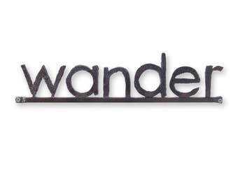 Wander Metal Word Sign Wall Sign Metal Letters