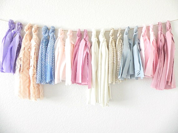 Rose Quartz & Serenity Textured Tassel Garland